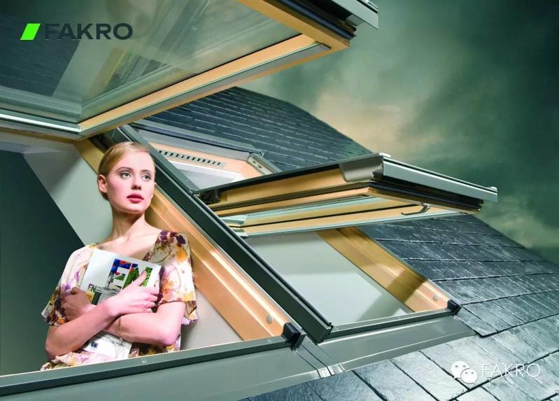 FAKRO斜屋顶天窗-FTP-中悬带通风口