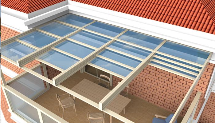 重叠平移天窗