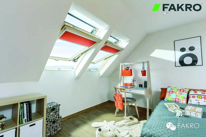 FAKRO斜屋顶天窗-FTE中悬窗